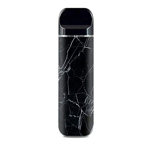 IT'S A SKIN Decal Vinyl Wrap for Smok Novo Pod System Vape Sticker Sleeve Cover/Black Marble Granite White