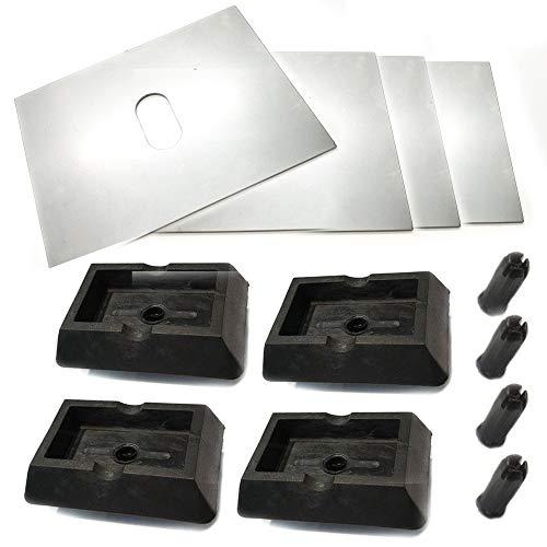 voor 5-serie E39 opname hefbrug krik 4x rubberen blok adapter 4x lasplaat 130x100x15mm