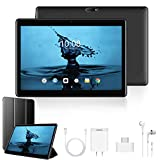 2020 Tablette Tactile 10 Pouces 4G Call FHD - 3Go RAM 32/128Go ROM Android 9.0 Tablet PC Quad Core Batterie 8500mAh Double SIM Double Caméra WiFi,Bluetooth,GPS,OTG(Noir)