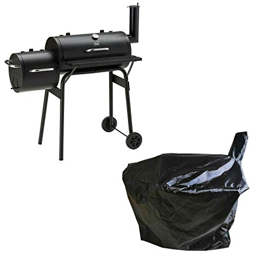 Neo Large Barrel Smoker Barbecue BBQ Outdoor Charcoal Portable Grill Garden Drum with Cover