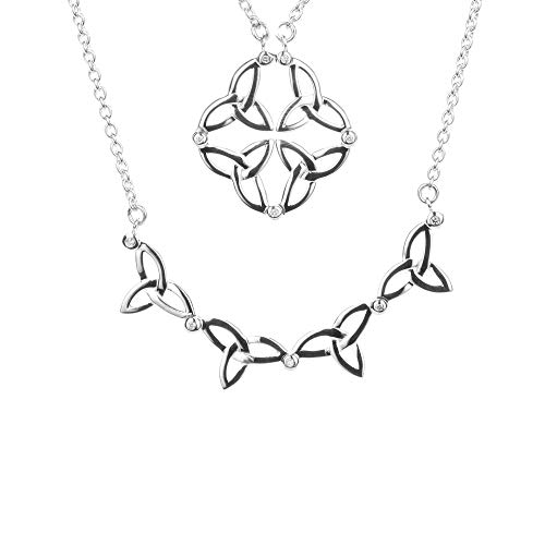 Keith Jack Jewelry, Diamond Synergy 2-in-1 Necklace, 925 Sterling Silver (0.05 cttw, H Color, P3 Clarity)