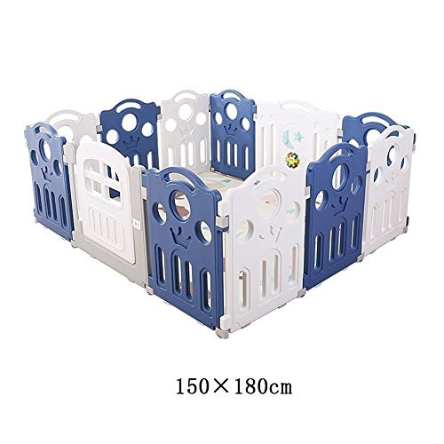 Great Deal! X/L Foldable Playpen with Door, Child Safety Activity Center (with Non-Slip Base), Perfe...