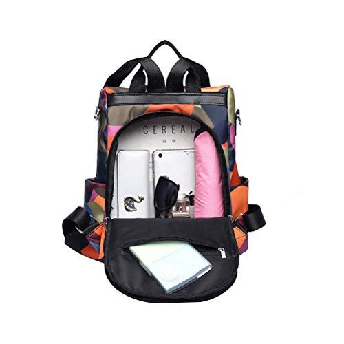 Mochila Oxford de tecido à prova d'água, estampa moderna, camuflada, bolsa de viagem, mochila escolar para esportes ao ar livre