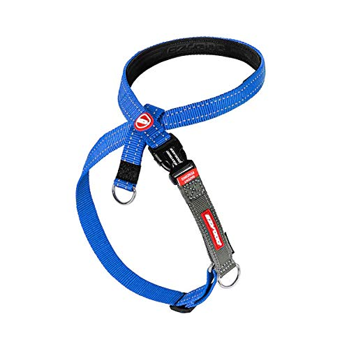 EzyDog Crosscheck Harness - Dog Training Harness - No Pull Harnesses for Dogs - Escape Proof, Reflective, Comfortable, Easy to Fit (XL, Blue)