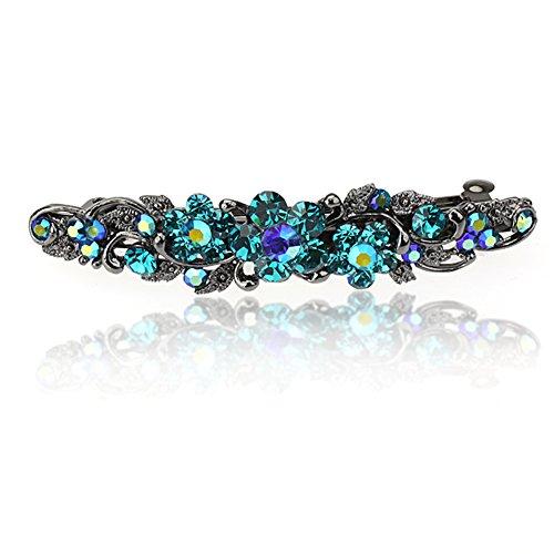 Swarovski Kristallblumen-Haar Barrettes Klipp