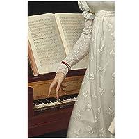 フレンチレトロプリンセスドレスガールキャンバス絵画壁アート写真リビングルームヨーロピアンスタイル家の装飾ポスター50x70cmx1フレームなし
