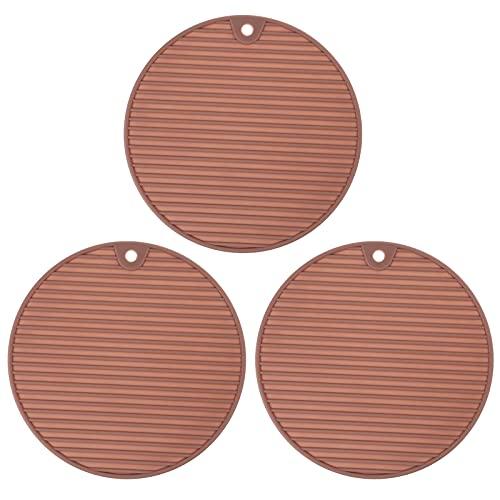 3 almohadillas de silicona con aislamiento térmico antideslizante para ollas de cocina