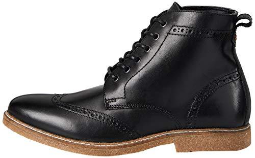 find. Morrison Stiefel Herren aus Nappaleder mit Brogue-Design , Schwarz (Smart Black), 40 EU