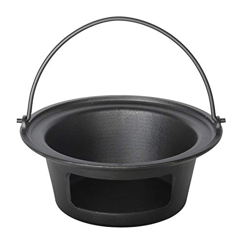 KAMaster Cast Iron Ash Can with Handle Charcoal Charcoal Ash Basket Big Green Egg Accessories Must Haves Kamado Ash Can Fits Large Big Green Egg,Kamado Joe Classic and Other Similar Size Grill