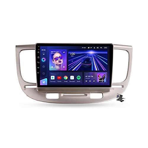 Android 10 GPS Navegación del Coche Estéreo para Kia Rio 2 2005-2011 con 9 Pulgada Táctil Soporte Split Screen/FM Am RDS Radio/Control del Volante/Carplay Android Auto,7862: 4+64gb