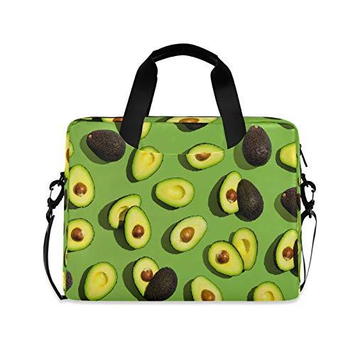 Ombra Laptop Shoulder Bag Tropical Fruit Avocado Portable Laptop Sleeve Case with Strap for 14/15.6/16in Notebook Computer Messenger Bag for Women Men Briefcase
