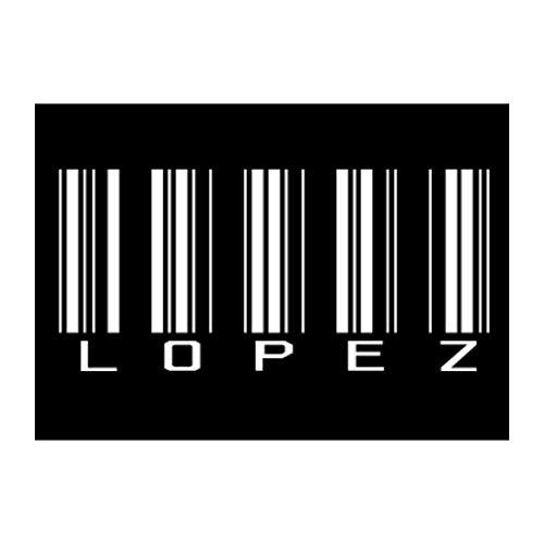 Idakoos Lopez Barcode Sticker Pack x4 6'x4'
