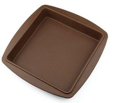 Allforhome Moule à gâteaux carré en silicone Grand format