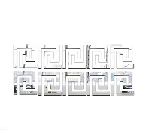 30 unidades 5 x 5 cm línea de la vida DIY espejo adhesivo moderno acrílico Home Decor Wall Stickers para niños dormitorio salón 2019 Dropshipping, la línea Vita de plata