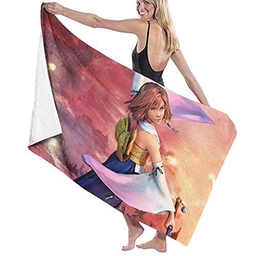 Final Fantasy X-Yuna - Toalla de baño unisex súper suave, súper absorbente y de secado rápido, viajes, playa, fitness, 80 x 130 cm
