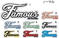 FAMOUS(フェイマス) NORMAL LOGO STICKER(ノーマル ロゴ ステッカー) ブラック/グレー