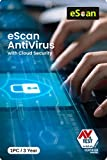 eScan Antivirus 1 User 3 Year with Cloud Security (Activation Key Card) (Activation Key Card)