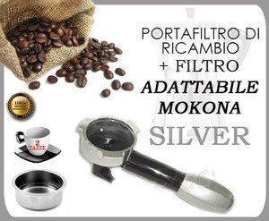 S & G BRACCETTO PORTAFILTRO Silver per MOKONA BIALETTI GAGGIA G107 + Filtro 2 Tazze