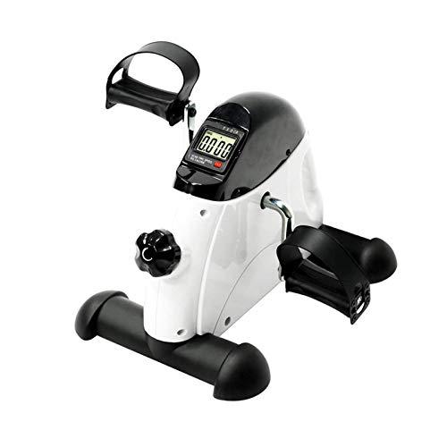 REWD Máquinas de Step para Fitness Cardio Inicio portátiles Uso de Manos y pies Trainer Mini Bici de Ejercicio Blanco y Negro Gimnasio en casa Apoyo