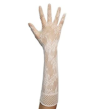 Anlaey Lycra Fingerless Over Elbow Cosplay Catsuit Long Gloves