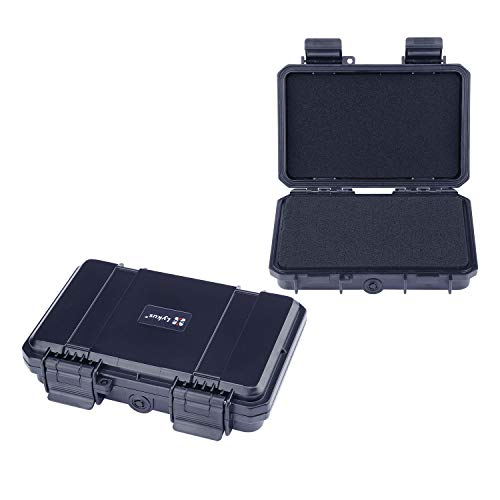 Lykus HC-1710 Mini Caja con Espuma, tamaño Interior 16,5x10x3,8 cm, IP66 a Prueba de Salpicaduras