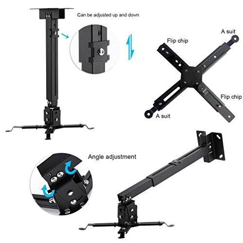 Soporte de techo inclinable y regulable para videoproyector para ...