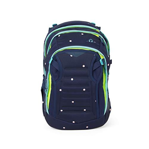 Satch match Schulrucksack - ergonomisch, erweiterbar auf 35 Liter, extra Fronttasche - Pretty Confetti - Blau