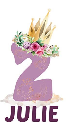 wolga-kreativ Bügelbild Applikation Aufbügler 1 2 3 4 5 6 Geburtstag Zahl mit Krone Name Buchstaben Zahl Mädchen zum selbst Aufbügeln A5 Geburtstagsshirt Kindergeburtstag