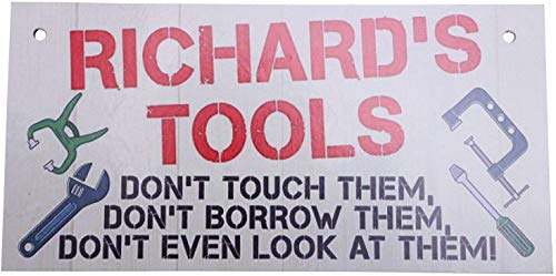 dingleiever-Shabby Chic Retro My Garage My Rules What Happens in The Garage Metal Novelty Sign Tool Shop