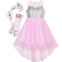 Pink Set With Sequin & Mesh Princess Tulle Dress