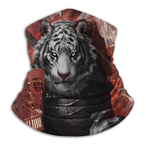 Pearl Bertie Ninja Lion Tiger Cat Fire Art Bufanda de pesca deportiva Cuello Polaina Sombreros de pesca Bufanda de sol Diadema Bandana Pasamontañas Multifuncional Transpirable Sin costura
