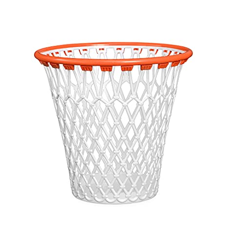 Basketballkorb Mülleimer | Basketball Geschenk | Basketball Deko | Mülleimer Spiel | Papierkorb Basketballkorb | Basketball Geschenkideen | Papierkorb weiß | Basketballkorb für den Müll