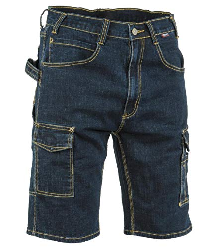 Cofra V497-0-00.Z58 Manacor - Pantalones vaqueros cortos, 70% algodón, 28% poliéster, 2% elastano, 330G-M², color azul vaquero, talla 58