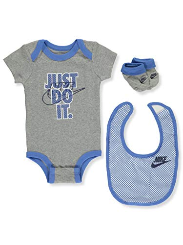Nike Baby Boys' 3-Piece Layette Set - Gray, 0-6 Months