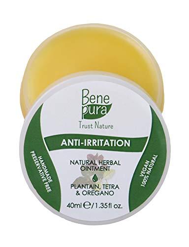 BenePura Anti-Juckreiz Natürliche Kräuter-Salbe 40 ml - Wegerich, Oregano & Tetra - Für gereizte und juckende Haut - Nach Insektenstichen - Konservierungsmittelfrei, Vegan, Handgefertigt in der EU