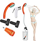 FLYFISH Portable Outdoor Camping Shower,Bidet Handheld Water Sprayer,Two 2200mAh Rechargeable Batteries,Water Pump for Camping, Hiking,Outdoor Travel