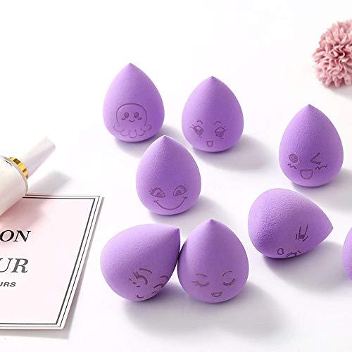 4pcs cosmétiques maquillage éponge Fondation Puff Bigger dans l'eau visage poudre Contour Make Up Kit éponge Kits - Violet_4pcs