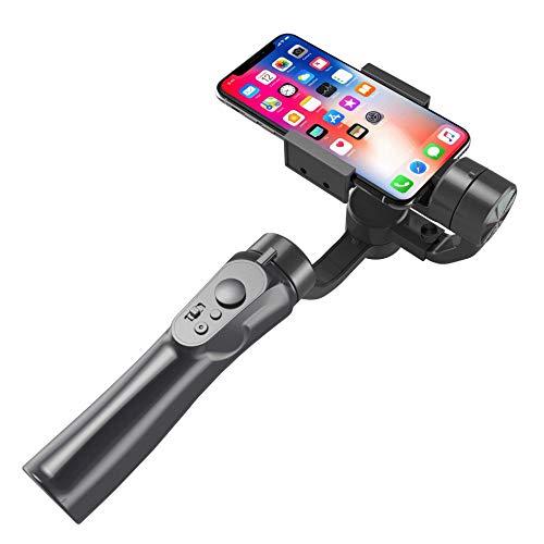 AXJJ Estabilizador de cardán - Smartphone Gimbal Stabilizer Gimble de Mano de 3 Ejes con Seguimiento automático de Objetos faciales
