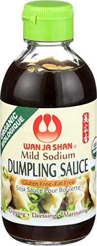 Wan Ja Shan Organic Dumpling Sauce 6.7 Oz , Pack of 2 ( Regular ), GLUTEN FREE, FAT FREE, MILD SODIUM Great for Dumpling Dipping-Gyoza Dipping, MADE IN USA