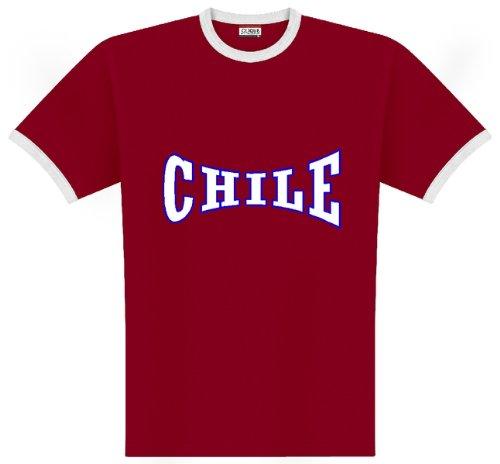 World of Football Ringer T-Shirt Chile Lo2c - M