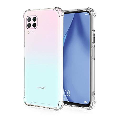 All Do Funda para Huawei P40 Lite, [Refuerzo de Cuatro Esquinas] Estuche de Silicona TPU Ultradelgado Transparente Absorción de Golpes Antiarañazos para Estuche Huawei P40 Lite - Transparente