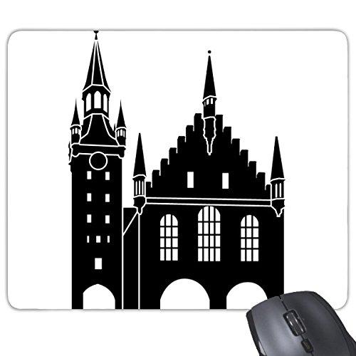 Deutschland Kölner Dom Landmark Architektur Building Silhouette Illustration Muster Rechteck rutschfeste Gummi Mauspad Spiel Maus Pad
