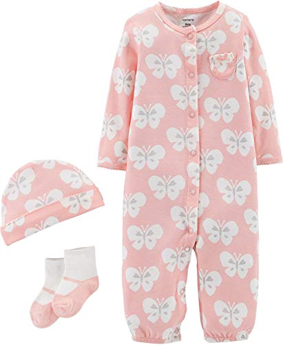 Carters Baby Girls 3-pc. Butterfly Take Me Home Layette Set 9 Months Pink/White