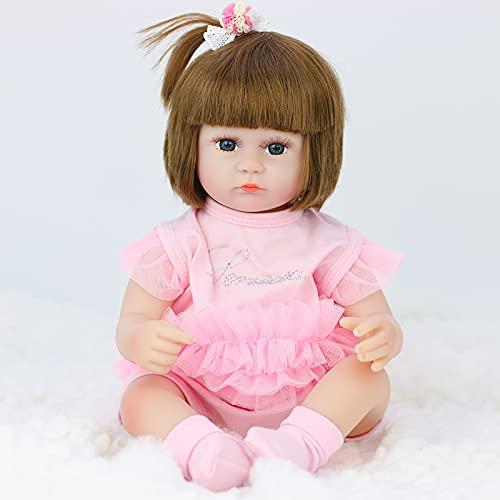 TTWLJJ Muñecas recién Nacidas, De La Simulación Renacer Muñeca42Cm 16.5 Pulgadas Vinilo bebé para niños Regalo de cumpleaños,J