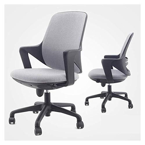 N/Z Daily Equipment Beauty Chair Silla de barbero Silla de Oficina Moderna de Tela con Respaldo bajo y Altura Ajustable para recepción, Comedor, Sala de conferencias (Color: D)