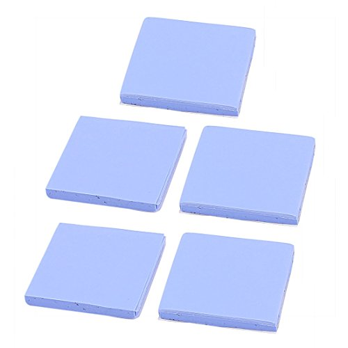 sourcing map Thermal Pad Pcs 5, GPU, CPU, Highqualityforyou-Tappetino in Silicone dissipatore termico, 30 x 30 x 2 mm