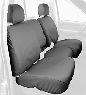 Covercraft SS3372PCGY Custom-Fit Front Bench SeatSaver Seat Covers - Polycotton Fabric, Grey