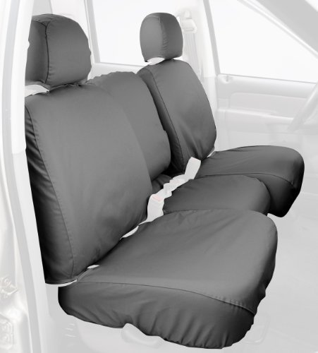 Covercraft Custom-Fit Front Bench SeatSaver Seat Covers - Polycotton Fabric, Grey - SS3380PCGY