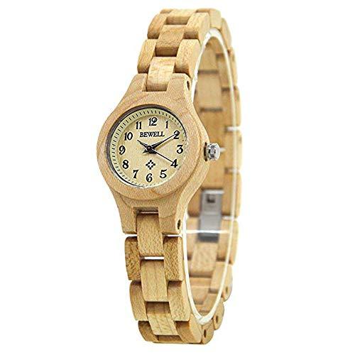 Reloj de Pulsera para Mujer, analógico, Mecanismo de Cuarzo, Hecho a Mano, Reloj de Pulsera Casual, de Madera, para Mujer
