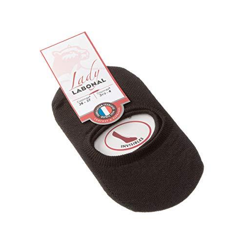 Labonal Chaussette Protège-pieds - 1 paire - Sans bouclette - Fine - Coolmax - Protège-bas uni coolmax